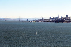 Yacht and San Francisco Stock Image