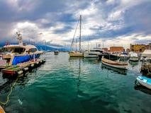 Yacht in Santa Margherita royalty free stock photography