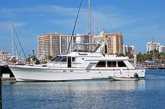 Yacht In Sarasota Harbour Stock Image