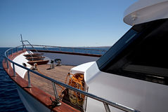 Yacht at sea. Royalty Free Stock Photography