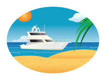 Yacht at sea Stock Image