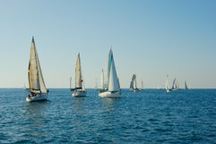 Yacht in a sea Stock Photos