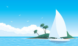 Yacht in sea Royalty Free Stock Photo