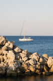 Yacht at the sea Royalty Free Stock Photo