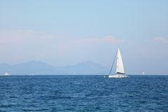 Yacht in sea Royalty Free Stock Image