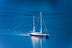 Yacht at sea Royalty Free Stock Photography