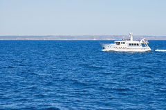 Yacht on the sea. Yacht on the blue sea Stock Image