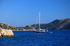 Yacht on Sea Stock Images
