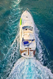 Yacht on the sea aerial view Royalty Free Stock Images