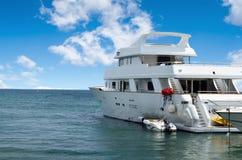 Yacht in the sea Stock Photos