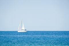 Yacht on the sea Royalty Free Stock Photo