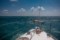 Yacht in the sea Stock Image