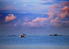 Yacht, sea and cloud Royalty Free Stock Image