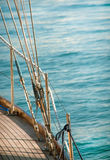 Yacht with sea ropes Royalty Free Stock Image
