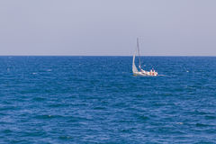 Yacht at sea Stock Images
