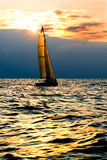 Yacht in the sea Royalty Free Stock Photo
