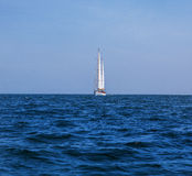 Yacht in sea Stock Image