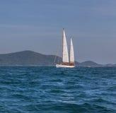 Yacht in sea Stock Photos