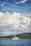 Yacht in a Sea Stock Images
