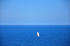 Yacht in sea Stock Images