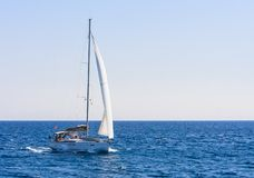 Yacht. Seascape. Greece Stock Photography