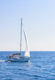 Yacht. Seascape. Greece Royalty Free Stock Photo
