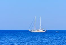 Yacht. Seascape. Greece Royalty Free Stock Images
