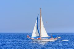 Yacht. Seascape. Greece Stock Image