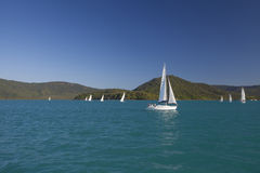 Yacht-Segeln Lizenzfreies Stockfoto