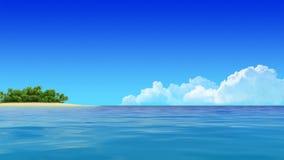 Yacht-Segeln-Insel-Reise-Intro stock abbildung