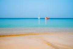 Yacht and seiner on Andaman Sea, Phuket Stock Photography