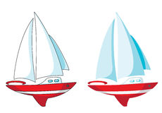 Yacht set Royalty Free Stock Images