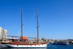 Yacht in Sliema harbour. Stock Image