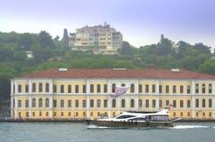 Yacht som seglar Bosphorus Istanbul Arkivfoton