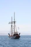 Yacht som svävar på havet Fotografering för Bildbyråer