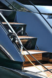 Yacht stair. Stair and hand rail of yacht, shown as marine activity, travel or holiday entertainment Royalty Free Stock Images
