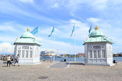 Yacht station for the Queen, Copenhagen, Denmark Royalty Free Stock Images
