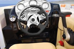 Yacht steering wheel Royalty Free Stock Image