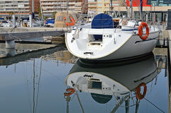Yacht Stern Reflection-Sailing Yacht Yachting  Royalty Free Stock Images