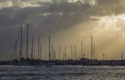 Yacht sui bacini 2 Immagini Stock Libere da Diritti