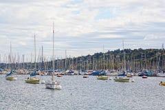 Yacht sul lago, Ginevra Fotografie Stock Libere da Diritti