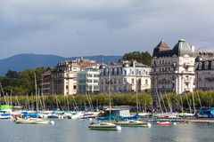 Yacht sul lago, Ginevra Fotografia Stock