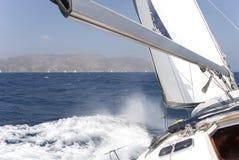 Yacht sul mar Mediterraneo Immagini Stock Libere da Diritti