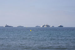 Yacht sul mar Mediterraneo, Riviera francese Fotografia Stock