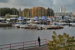 Yacht sulla banchina Tallinn Immagini Stock