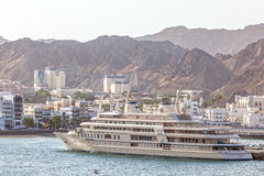 Yacht of Sultan Qaboos in Muttrah, Oman Stock Image