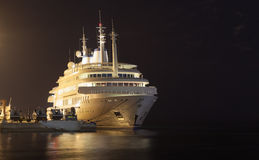 Yacht of Sultan Qaboos in Muttrah, Oman Royalty Free Stock Image