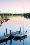 Yacht at sunrise Royalty Free Stock Photo