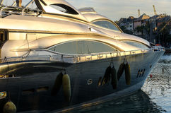 Yacht at sunset Stock Photography