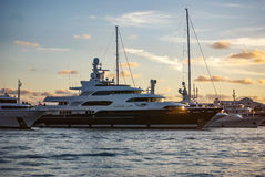 Yacht Sunset Royalty Free Stock Images